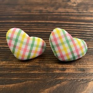 solarhalo Jewelry - 😍 (3/$20)💖HAND CRAFTED💖Plaid Heart Earrings